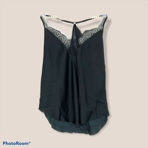 Free People silky black cami size XS